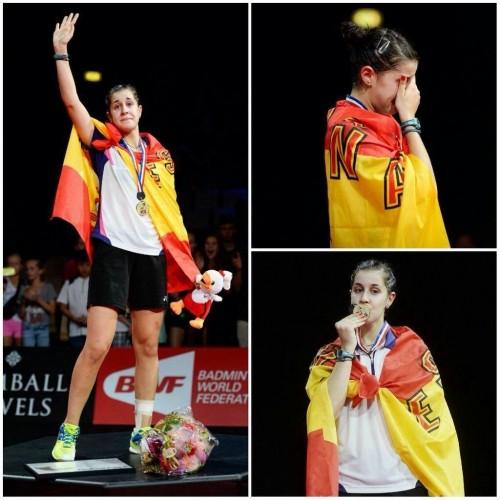 Carolina Marín, Campeona Mundial de Bádminton Doble