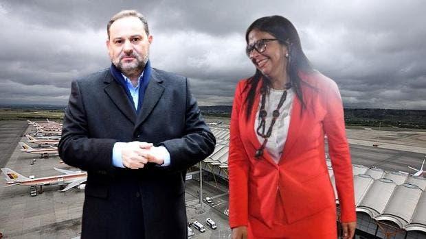 El-socialista-Abalos-con-la-narcochavista-Delcy-Rodríguez