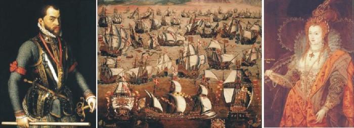 Felipe II, Isabel I y las Invencibles armadas españolas e inglesas