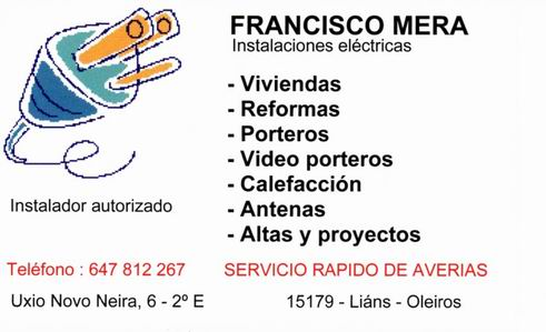 Francisco mera - Electricidad