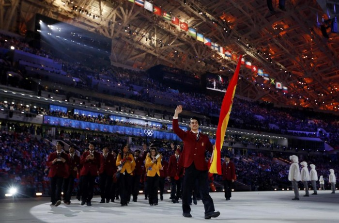 Javier Fernández,abanderado de España en Sochi 2014.