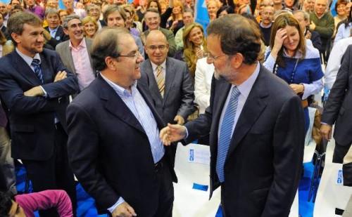 Mariano Rajoy con Juan Herrera, Presidente de Castilla y León