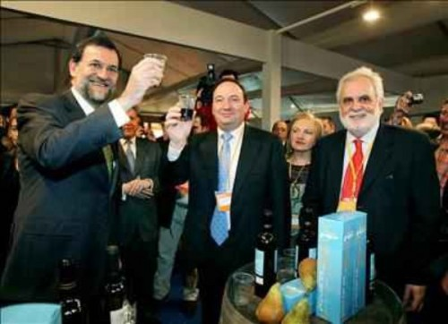 Mariano Rajoy con Pedro Sanz, Presidente de La Rioja