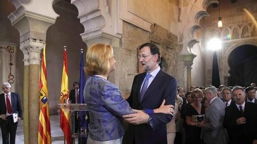 Mariano Rajoy con luisa Fernanda Rudi, presidente de Aragon 2