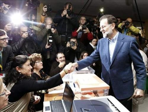 Mariano Rajoy en el Colegio Electoral
