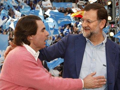 Mariano Rajoy y Aznar