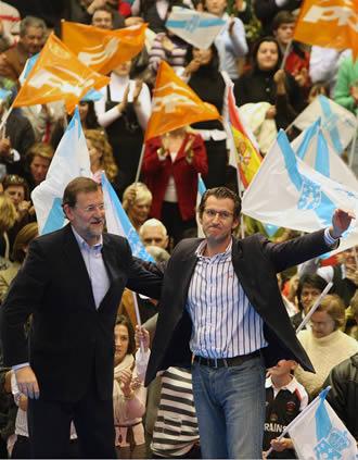 Mariano Rajoy y Nuñez Feijoo