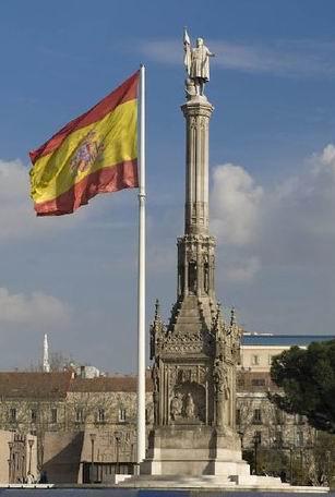 Plaza de Colon y Bandera España