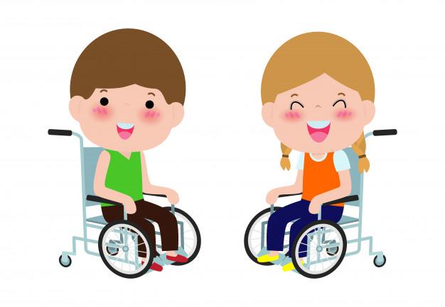 ninos-discapacitados-lindos-sentado-silla-ruedas-persona-discapacidad-dibujos-animados-coloridos-estilo-plano_83111-459